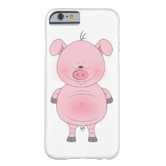 Cheerful Pink Pig Cartoon Barely There iPhone 6 Case