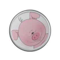 Cheerful Pink Pig Cartoon Bluetooth Speaker