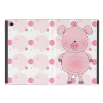 Cheerful Pink Pig Cartoon Case For iPad Mini