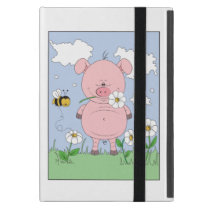 Cheerful Pink Pig Cartoon iPad Mini Case