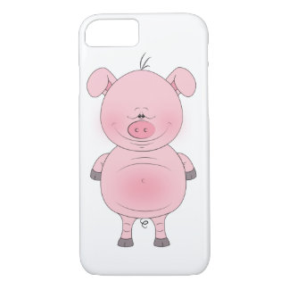 Cheerful Pink Pig Cartoon iPhone 8/7 Case
