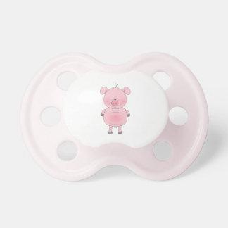 Cheerful Pink Pig Cartoon Pacifier