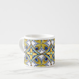 Cheerful Pottery Pattern Espresso Cup