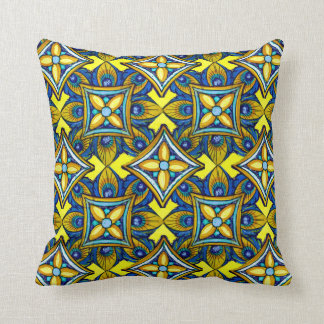 Cheerful Pottery Pattern Pillow