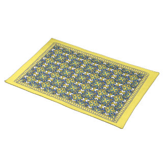 Cheerful Pottery Pattern Placemat