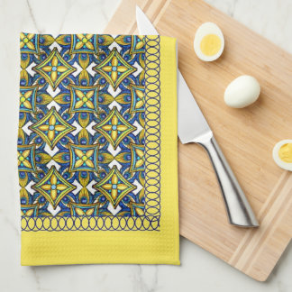 Cheerful Pottery Pattern Towels