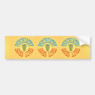Cheerful Pro-Psychiatry Decal (3 in 1) Bumper Sticker
