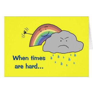 Cheerful Rainbow Behind a Cloud Encouragement Card