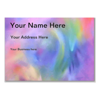 Cheerful Rainbow Blend Abstract Business Card Template