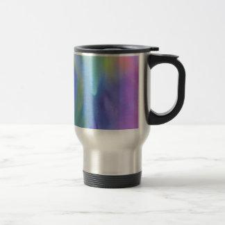 Cheerful Rainbow Blend Abstract Travel Mug