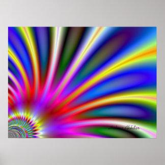 Cheerful rainbow fan room accent  Halima Ahkdar Poster