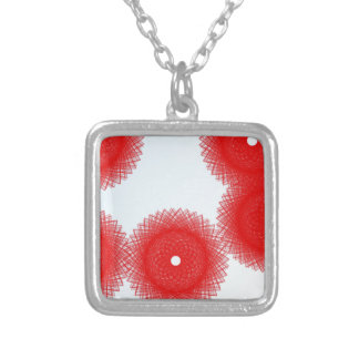 cheerful red color silver plated necklace