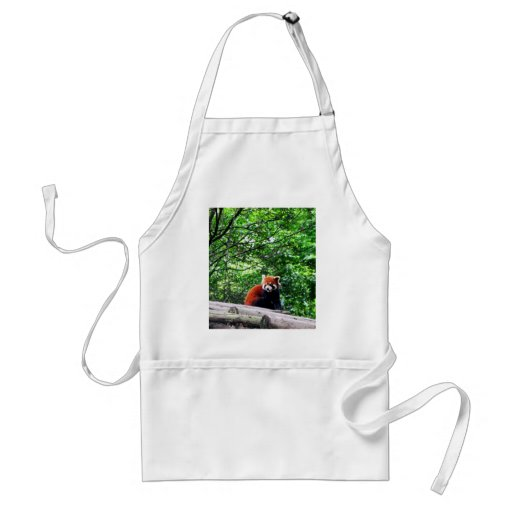 Cheerful Red Panda Adult Apron