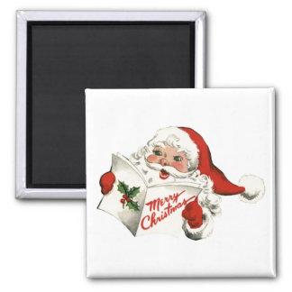 Cheerful Retro Santa Claus Magnet