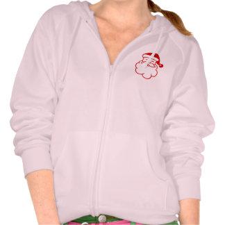 cheerful santa portrait sweatshirts