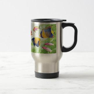 Cheerful seawater fish travel mug