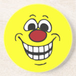 Cheerful Smiley Face Grumpey Beverage Coasters