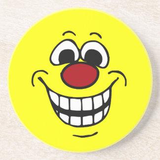 Cheerful Smiley Face Grumpey Coaster