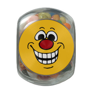 Cheerful Smiley Face Grumpey Glass Jars