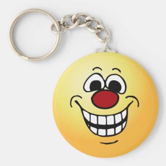 Cheerful Smiley Face Grumpey Keychain