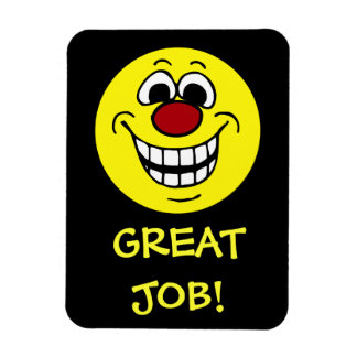 Cheerful Smiley Face Grumpey Magnet