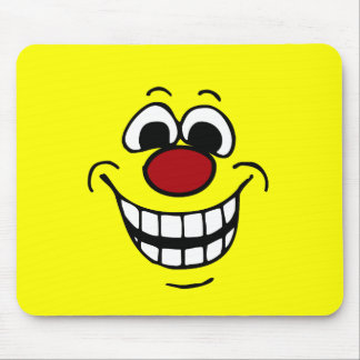 Cheerful Smiley Face Grumpey Mouse Pad