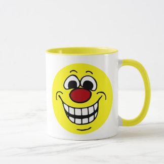 Cheerful Smiley Face Grumpey Mug
