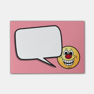 Cheerful Smiley Face Grumpey Post-It Notes