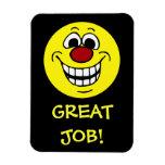 Cheerful Smiley Face Grumpey Rectangular Photo Magnet