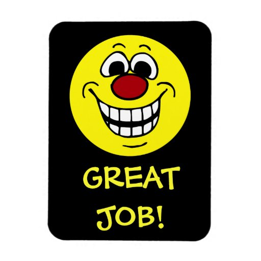 Cheerful Smiley Face Grumpey Rectangle Magnet