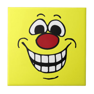 Cheerful Smiley Face Grumpey Tile