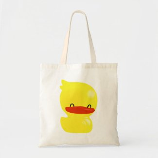 Cheerful Smiling Ducky Budget Tote Bags