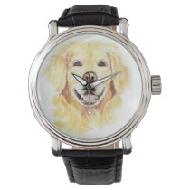 Cheerful Smiling Golden Retriever Dog Pet Animal Watch