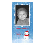 Cheerful Snowman Holiday Card Picture Card