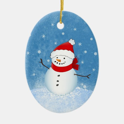 Cheerful Snowman Ornament