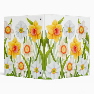 Cheerful Spring Daffodils Binder