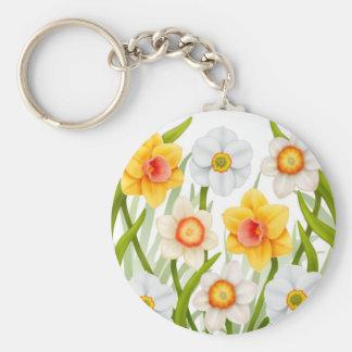 Cheerful Spring Daffodils Keychain
