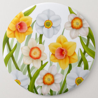 Cheerful Spring Daffodils Large Pin