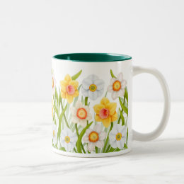 Cheerful Spring Daffodils Mug