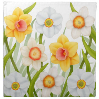 Cheerful Spring Daffodils Napkin