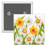 Cheerful Spring Daffodils Pin