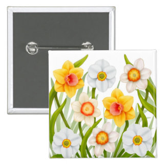 Cheerful Spring Daffodils Pin