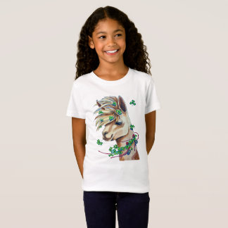 cheerful spring llama T-Shirt
