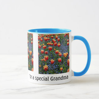 Cheerful Spring Tulips -- Grandma (Customizable) Mug