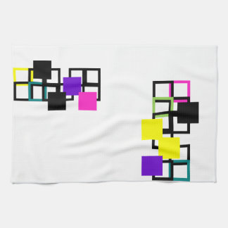 Cheerful Square Colorful Pattern Kitchen Towel