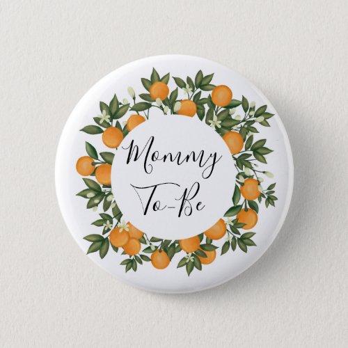 Cheerful Summer Citrus Botanical Orange Tangerine Button