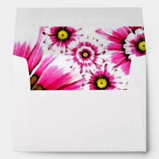Cheerful Summer Pink Flower Collage Envelopes