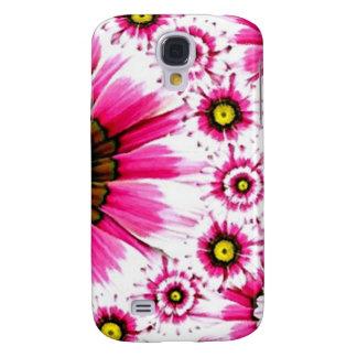 Cheerful Summer Pink Flower Collage Galaxy S4 Case