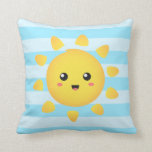 Cheerful sun that shines brightly all around pillows