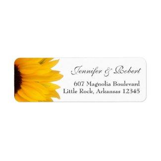 Cheerful Sunflower Address Label